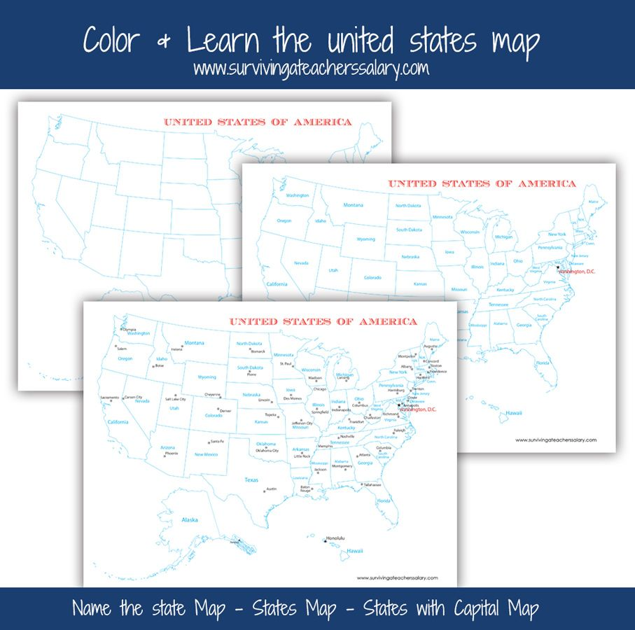 FREE U.S.A. Map Printables - Blank, City, and States | Free ...