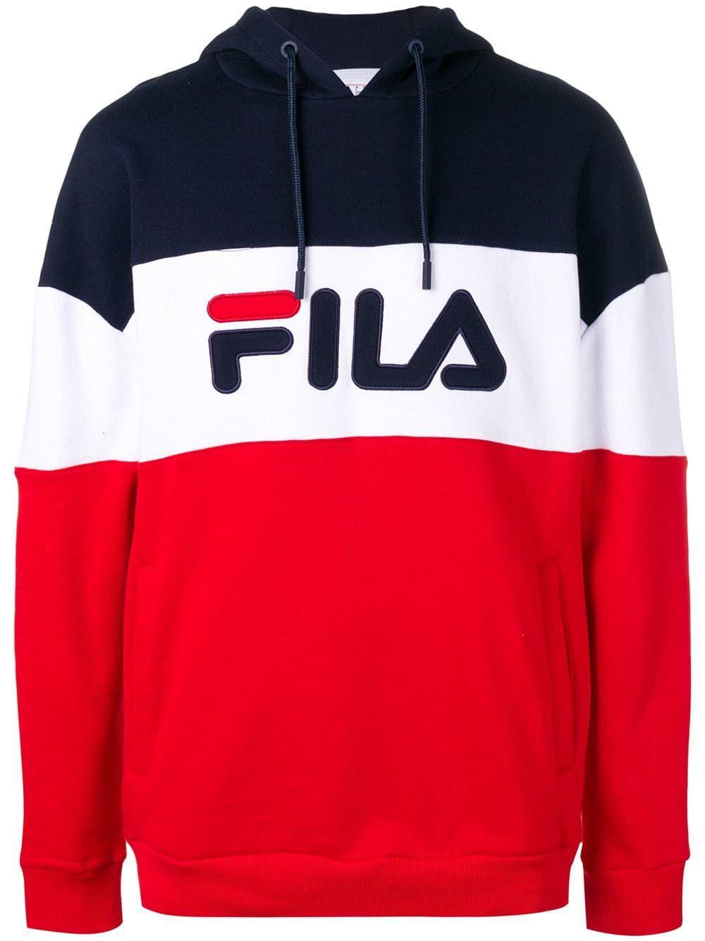 Fila logo print hoodie - Red   Hoodie