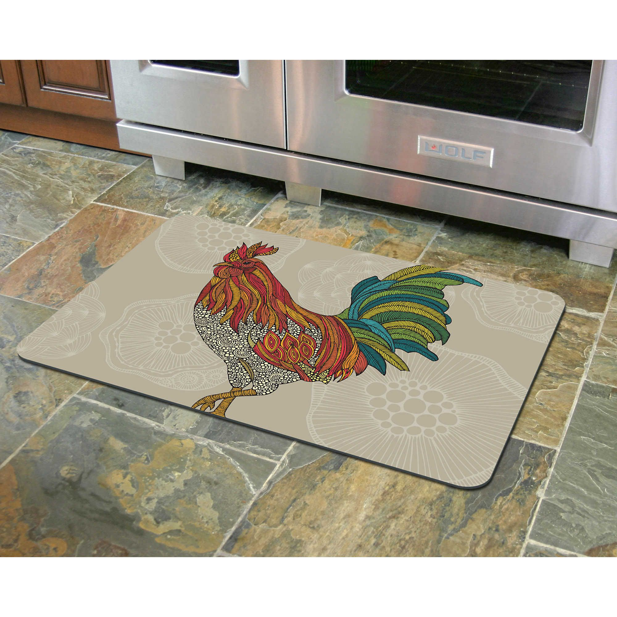 Bungalow Flooring 23Inch x 36Inch Rooster Kitchen Mat