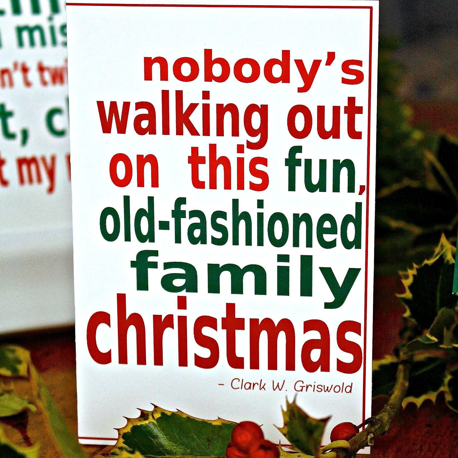 Christmas Vacation Santa Quotes: National Lampoons Christmas Vacation Printable Movie Quote