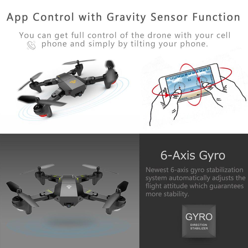 Visio mini foldable drone 🎥🕹with wifi 📲📶 fpv 0.3MP or 2MP ...