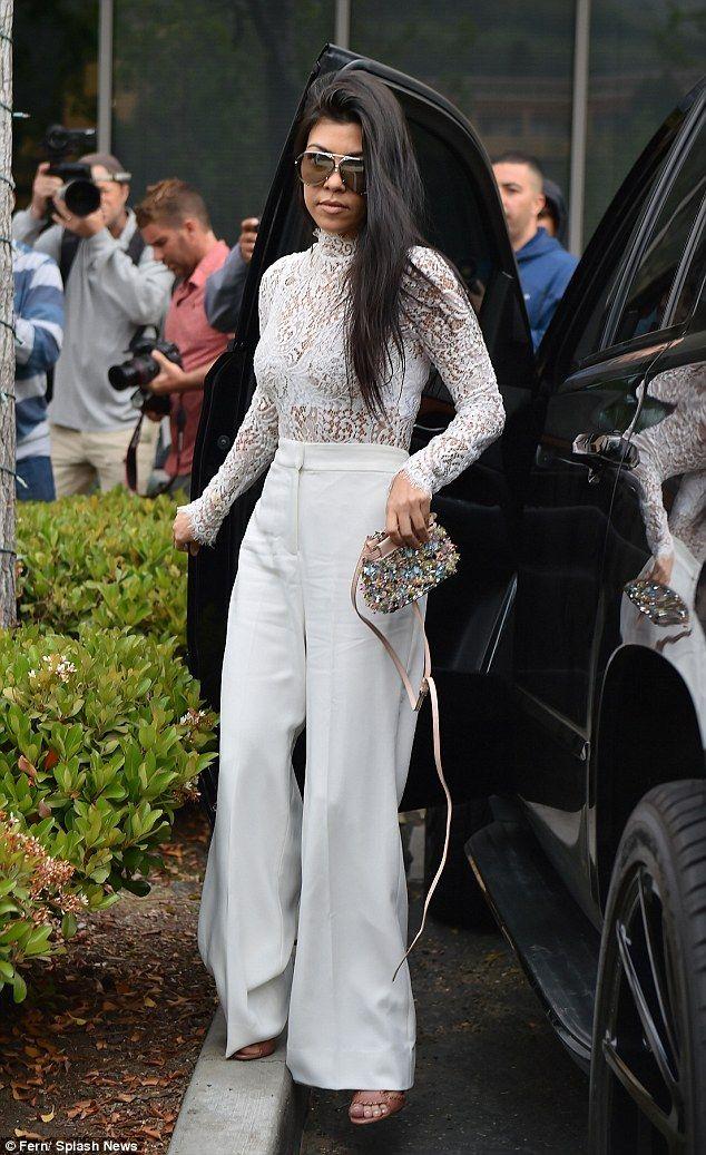 a85d74a3a784d White hot  Kourtney Kardashian arrived to California Community Church in  Agoura Hills on E..