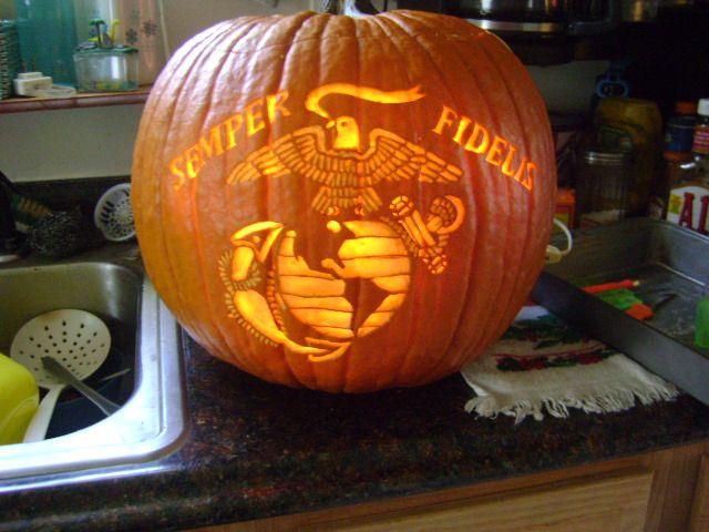 Usmc pumpkin marine corps stencil my ️