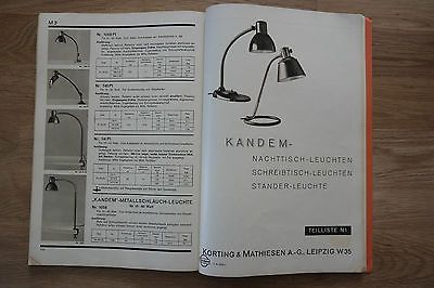 bauhaus lampen kandem leuchten liste nr 90 1937 original 4 oude lampen info. Black Bedroom Furniture Sets. Home Design Ideas