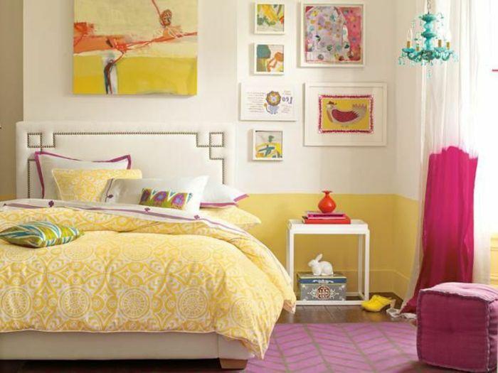 idée déco chambre ado fille de couleur jaune nadachabrenfant - couleur de la chambre