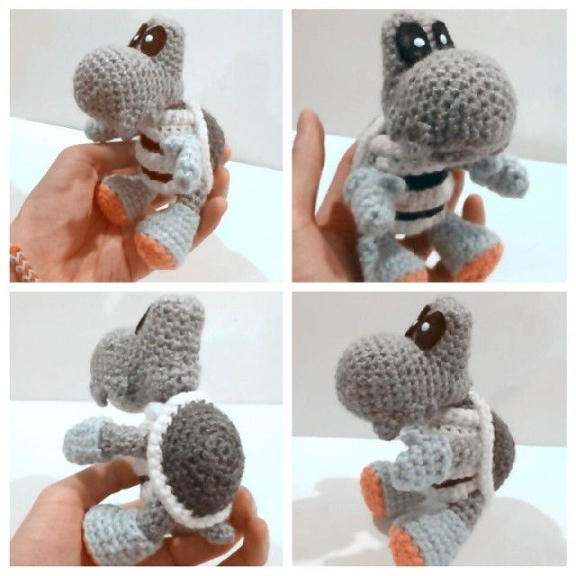 All done! This was a tricky one to make because Yoshi has a very odd ...