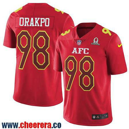 ... Jersey Mens Tennessee Titans 98 Brian Orakpo Red AFC 2017 Pro Bowl  Stitched NFL Nike Game ... 7192b6673