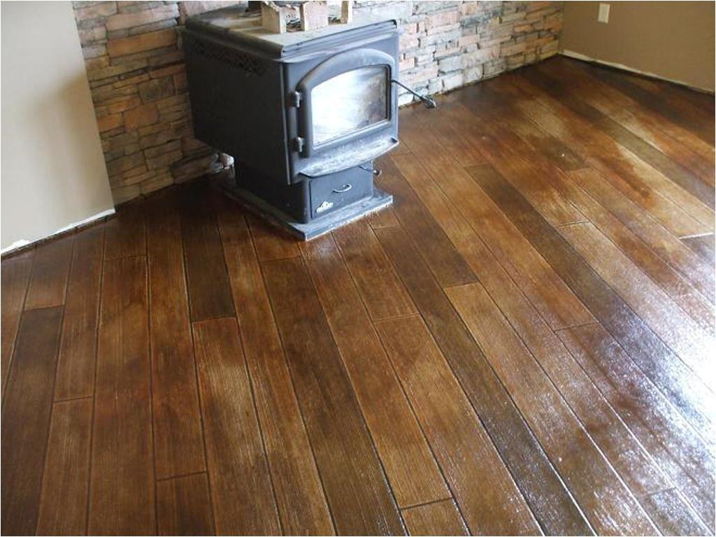 Concrete Floor Looks Like Wood Staining Concrete Floors Indoors