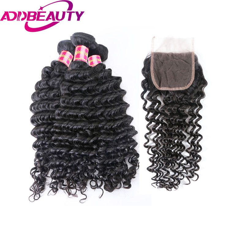 AddBeauty Brazilian Deep Wave Virgin Human Hair Bundles