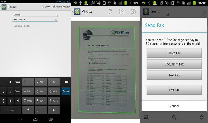 freefax envío gratis de fax a 50 países desde tu android android