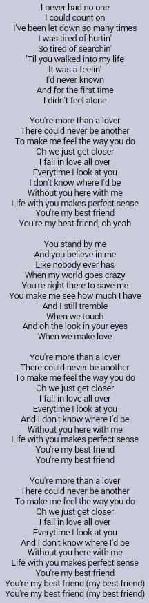 Tim McGraw   My Best Friend Idk I feel like I could make a great sad