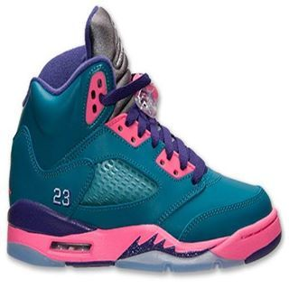 ea37046f15c2 Girls Air Jordan 5 Tropical Teal..Eblens