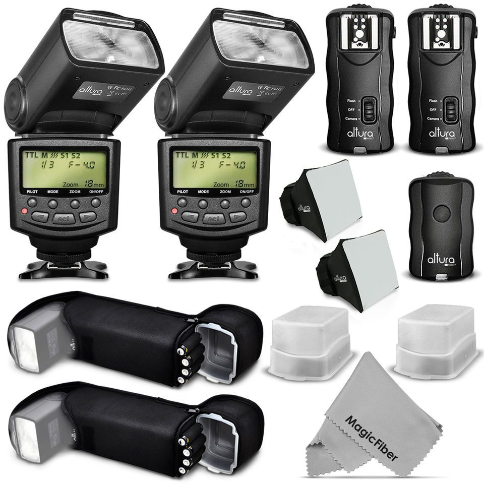 Altura Photo Studio Pro Flash Kit For Canon Dslr Bundle With 2pcs E
