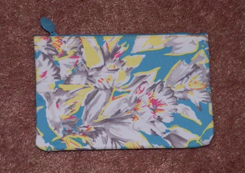 Ipsy Glam Bag March 2015 Floral Fantasy Blue, Bag Only, No