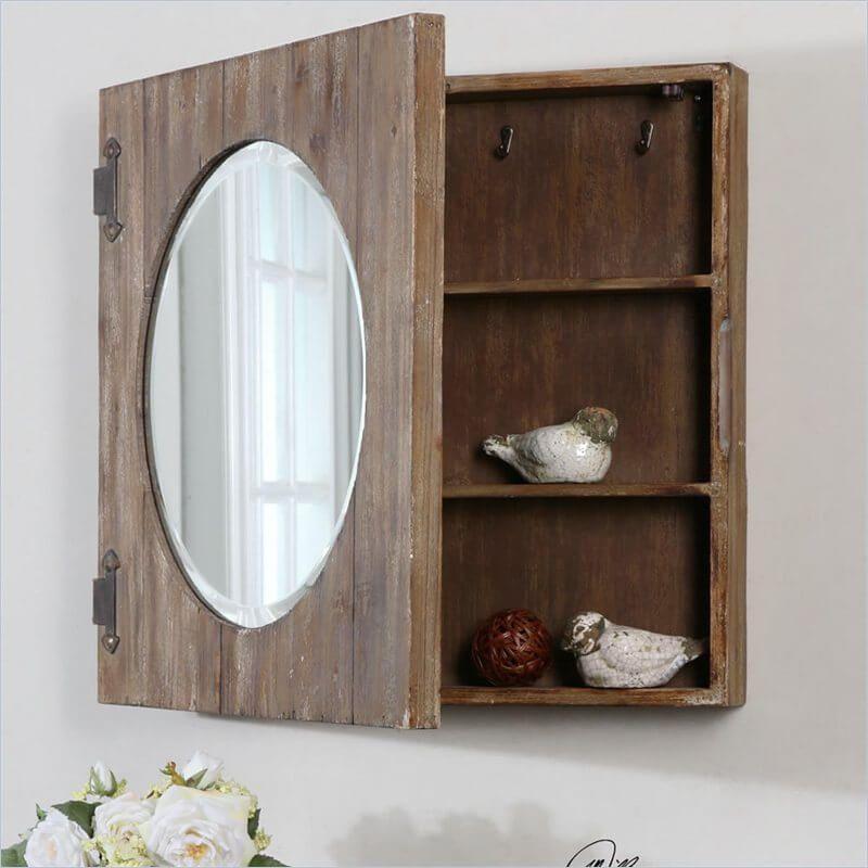 35 Home Storage Ideas Room By Room Rustic Medicine Cabinets Mirror Cabinets Traditional Medicine Cabinets Rustic bathroom medicine cabinets
