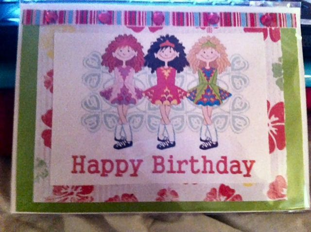 Happy Birthday Irish Dance Girls Greeting Card 5x7. $4.00, via Etsy.