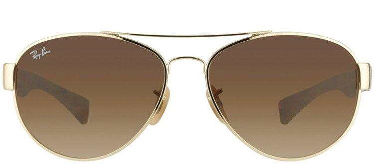 Ray Ban RB3491 001/13 Arista Gold & Matt Havana Metal Aviator Sunglasses Product Code:  RB_3491_001/13 $93.49 www.gaffos.com