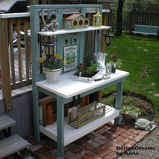 how to build a potting bench, diy, gardening, how to, outdoor living, woodworking projects