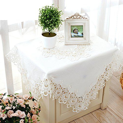 Fabric Table Cloth/Mat-style White Embroidered Tablecloth ...