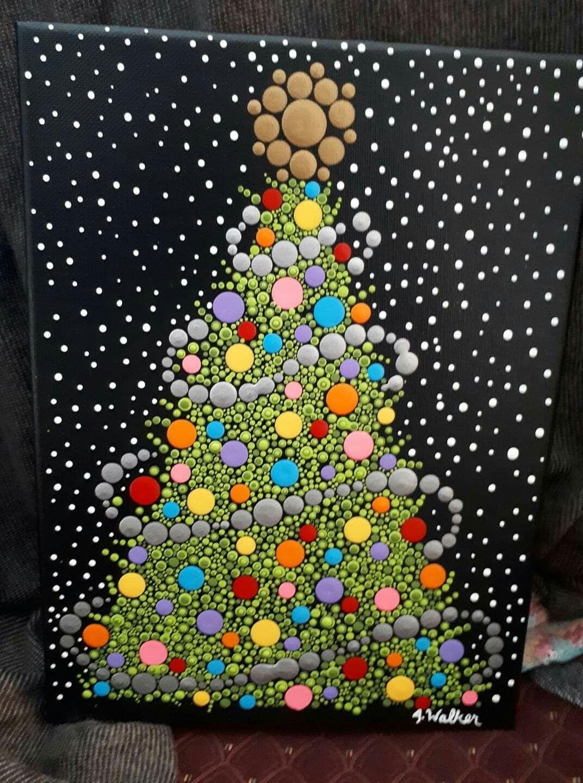 Pin By Jeanette Siegel On Mandalas Dot Painting Dot Art Painting Christmas Art