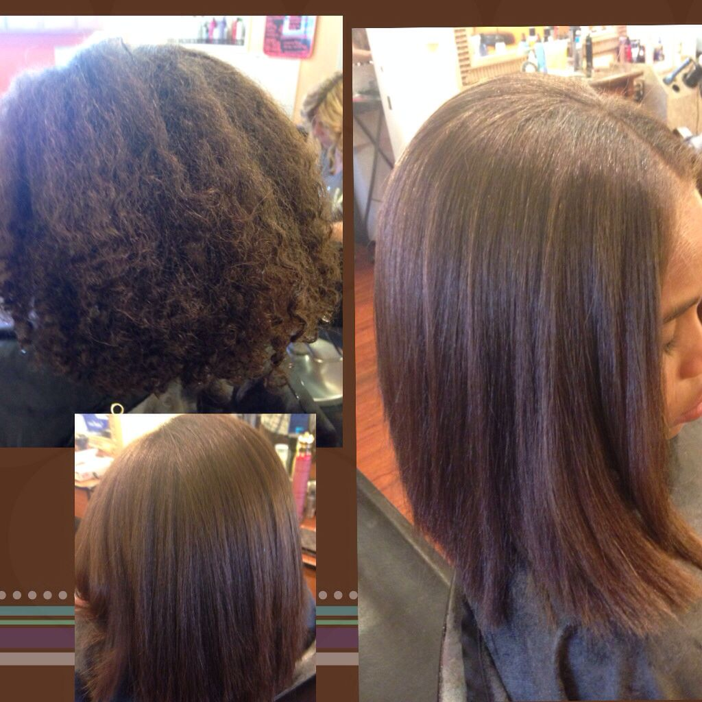 Straight perm for mixed hair - Permanent Straighter Opti Smooth Virgin On Mixed Hair