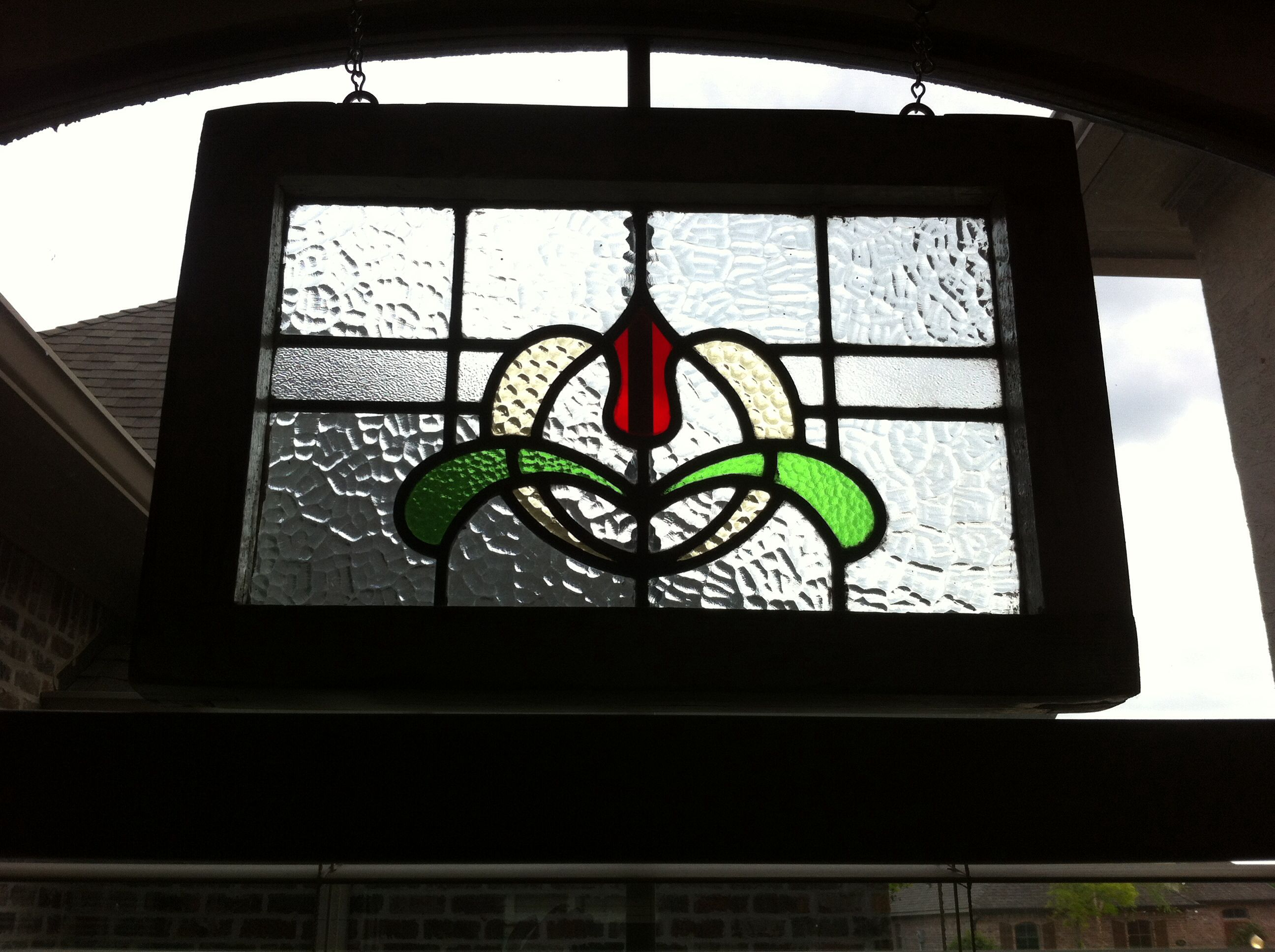 Various different textured glass patterns used in this pretty design