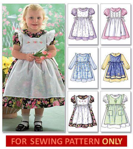 Sewing pattern! make fancy dress~pinafore! mix & match! toddler ...