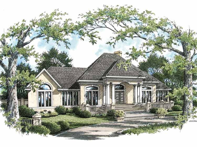 Greek revival house plan with 2168 square feet and 4 for Greek house plans
