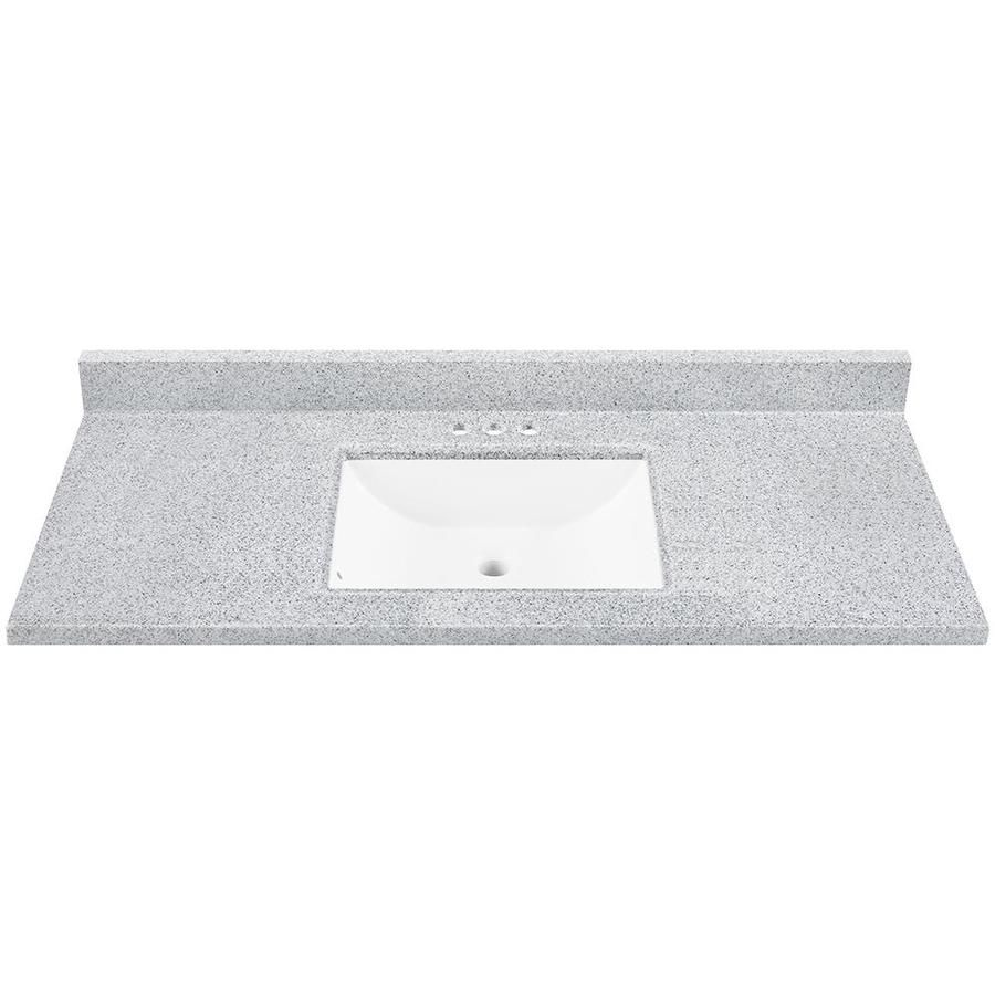 Gallery Website Pepper Pepper Solid Surface Integral Bathroom Vanity Top Common in x
