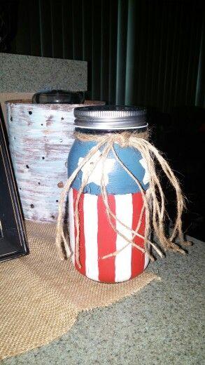 July4th painted jar