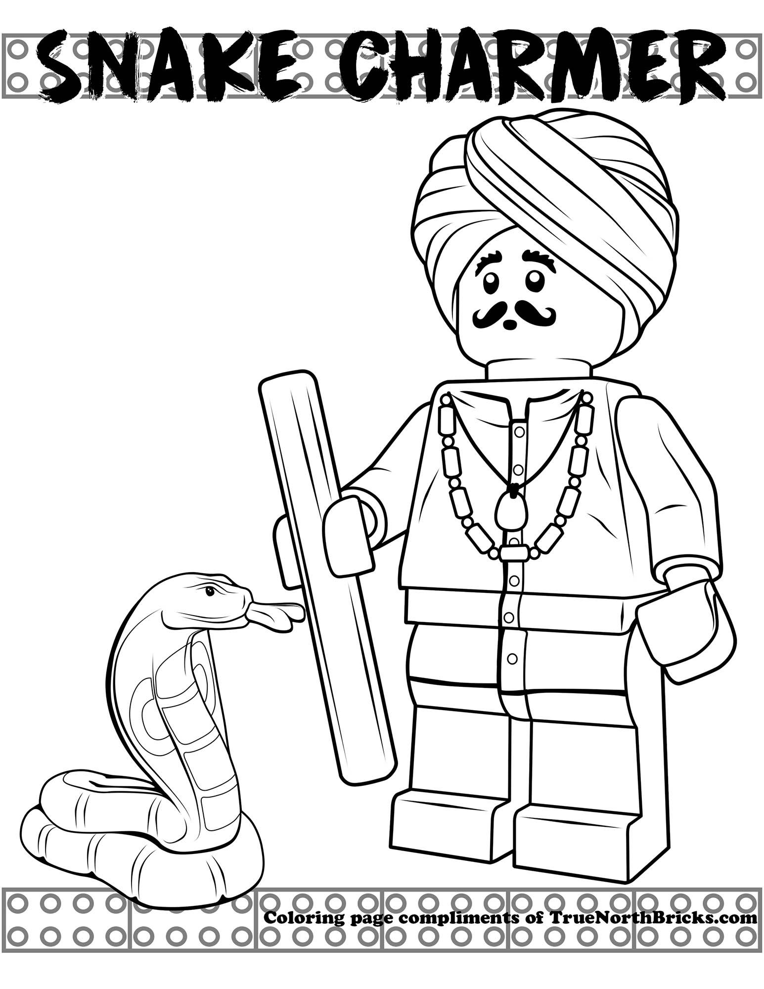 Coloring Page Snake Charmer Coloring Pages Lego Coloring Pages
