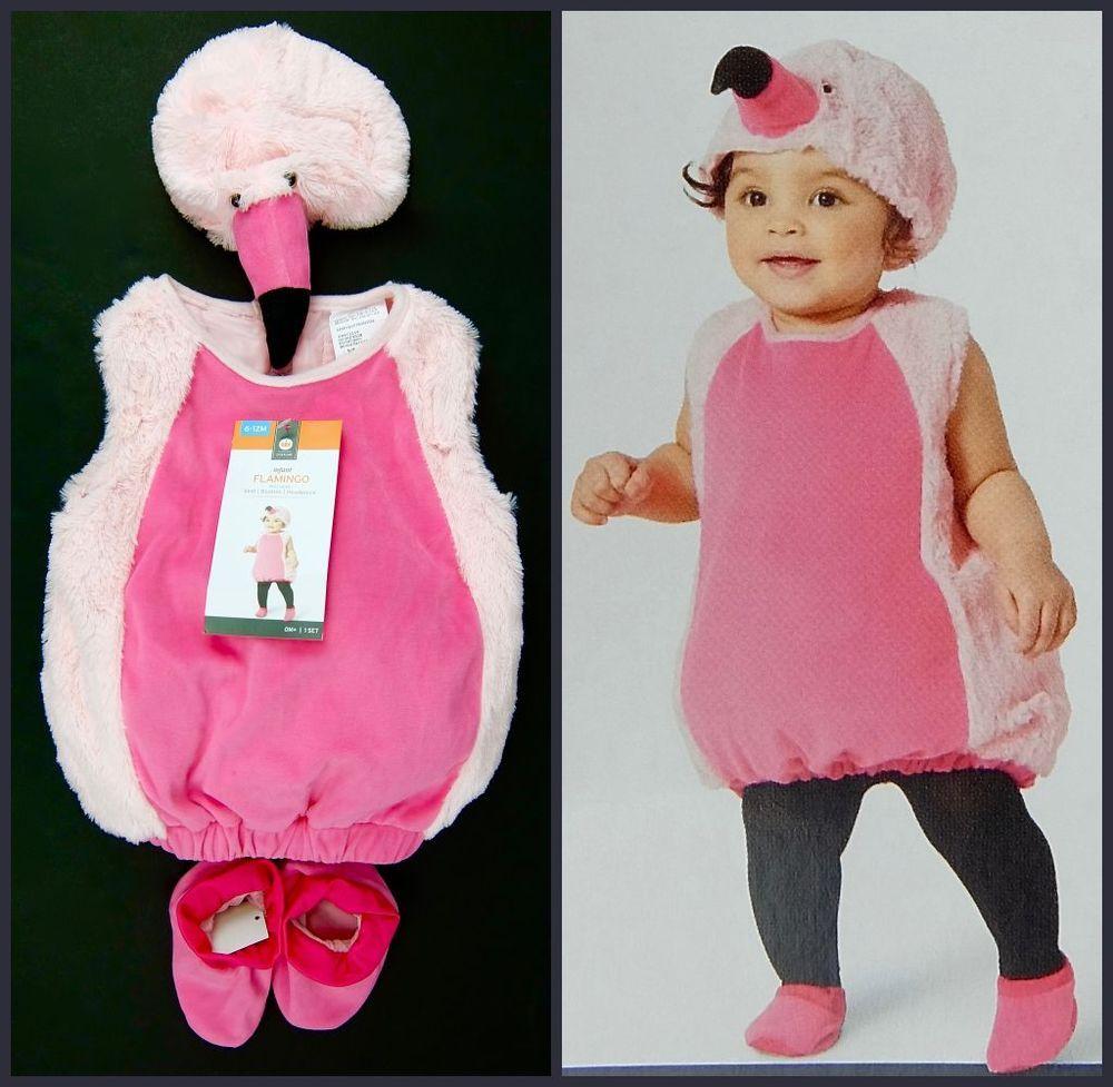 Girls Pink Flamingo Halloween Costume Sizes 0-6 Month 6-12 Month 12-18 Month  sc 1 st  Pinterest & Girls Pink Flamingo Halloween Costume Sizes 0-6 Month 6-12 Month 12 ...