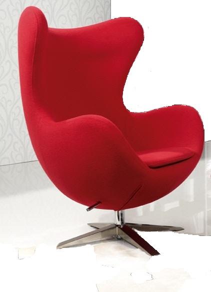 Arne Jacobsen Egg chair chair rocking red replica swivel