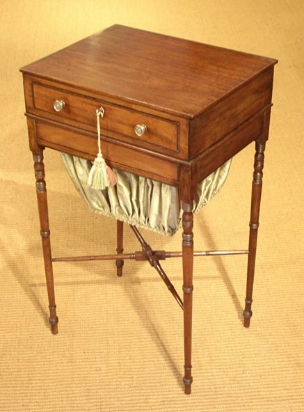 Regency Mahogany Work Table Antique Sewing Table Antique Work