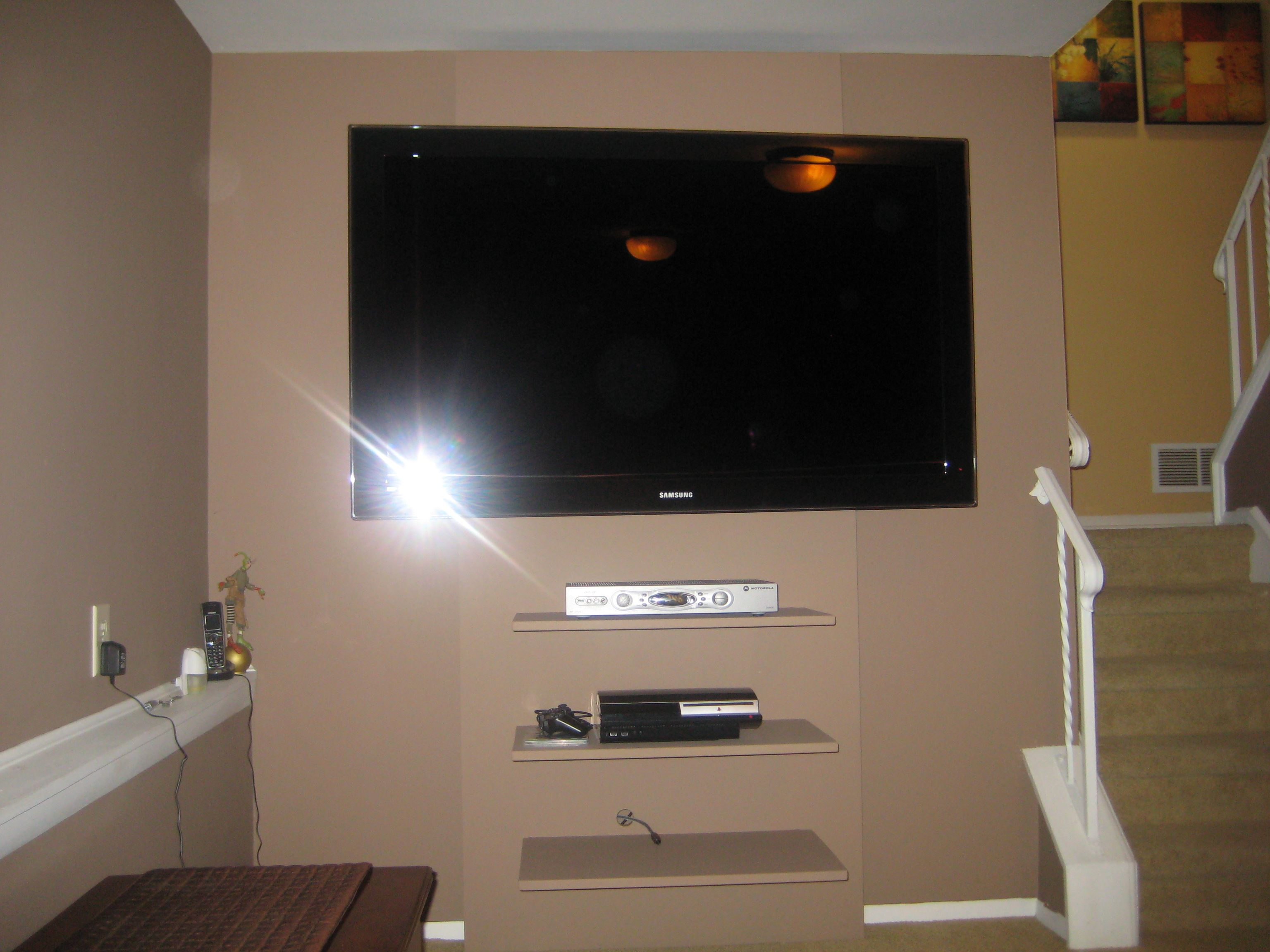 Floating Tv Wall Unit Tv Wall Floating Shelves For The Home Pinterest Tv