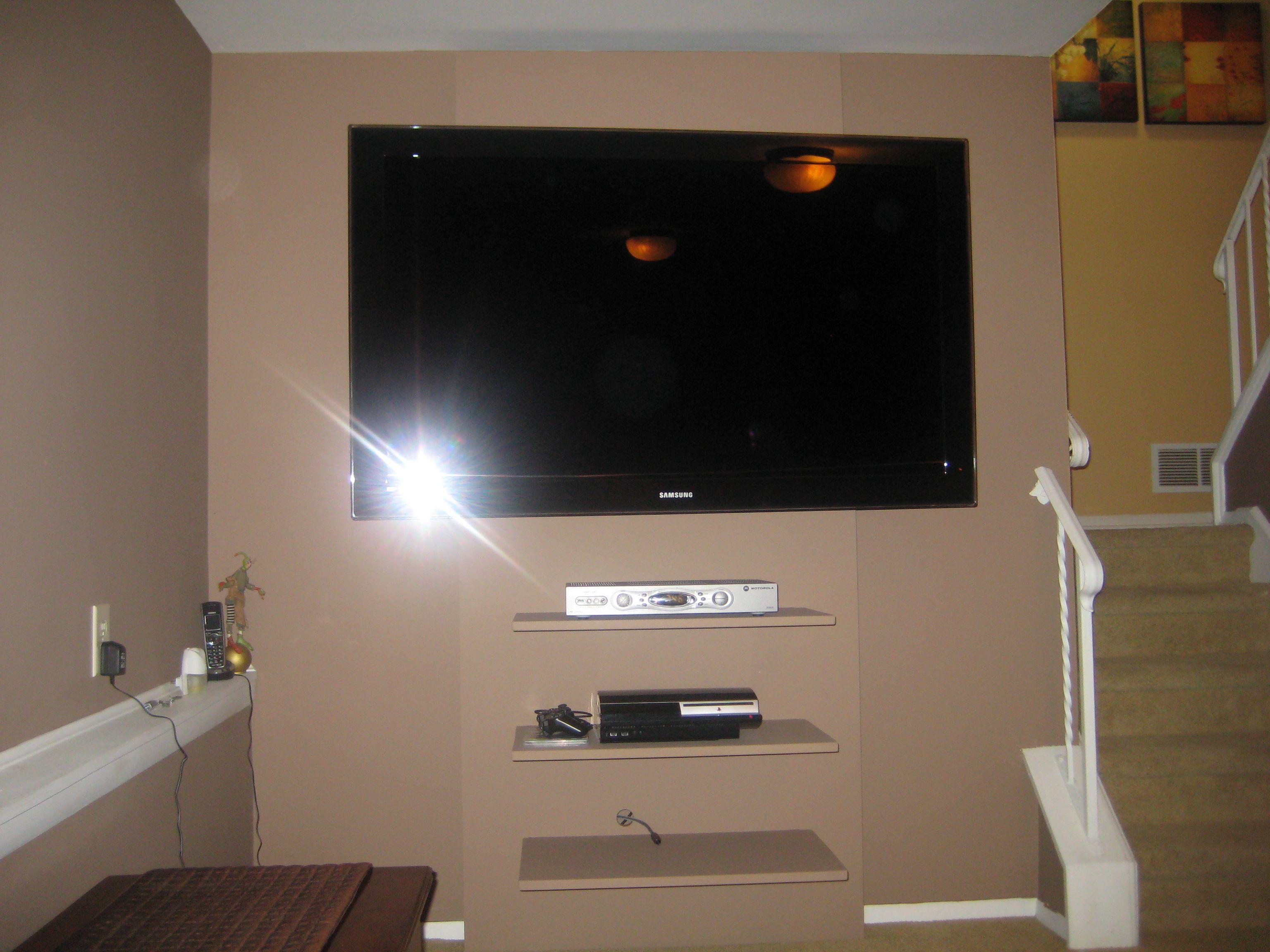 TV Wall - floating shelves | For the Home | Pinterest | Tv walls ...