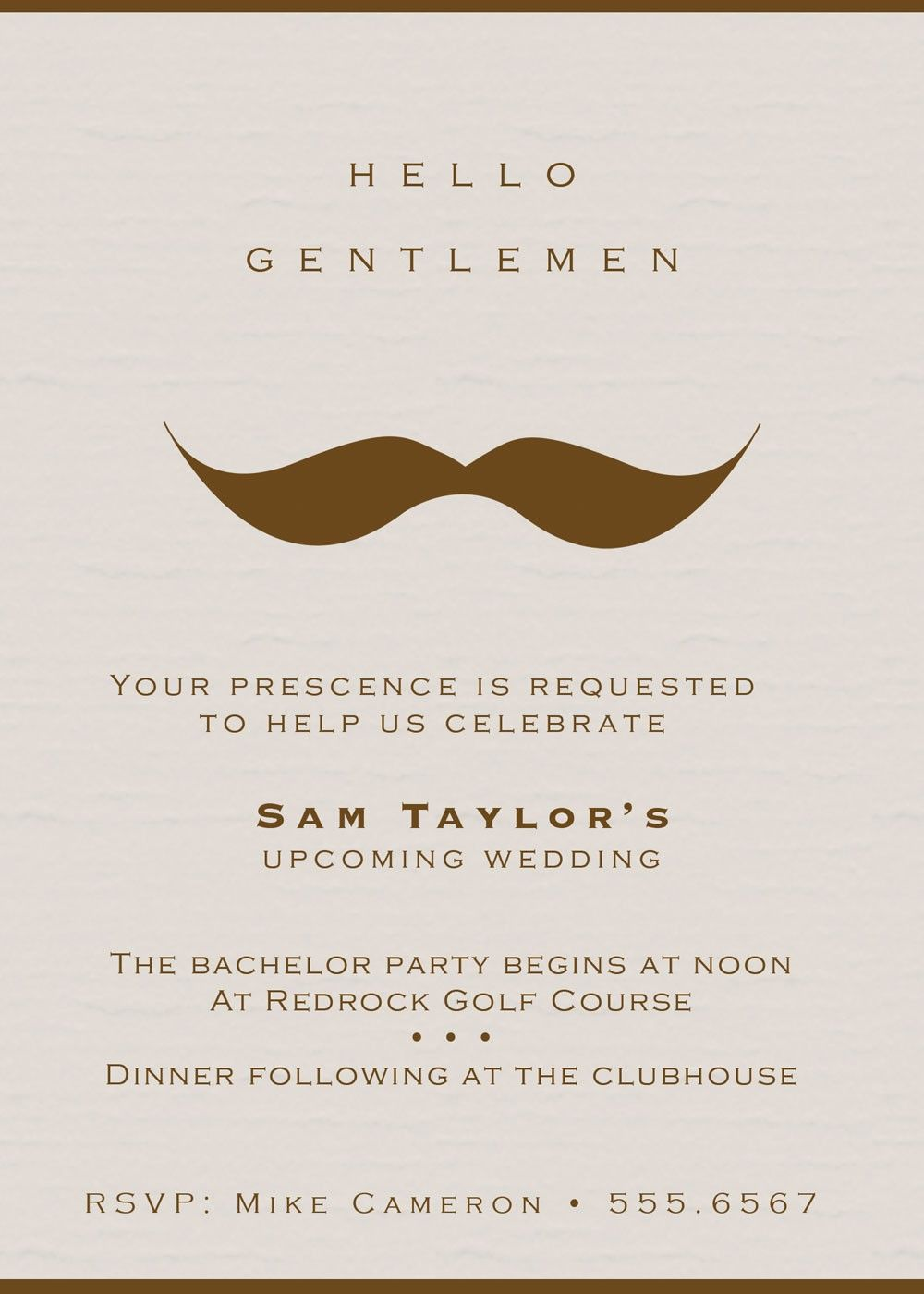 Inxase jake wants to send out invites lol brittney anderson gentlemans moustache bachelor party invitations set by rootdown monicamarmolfo Choice Image