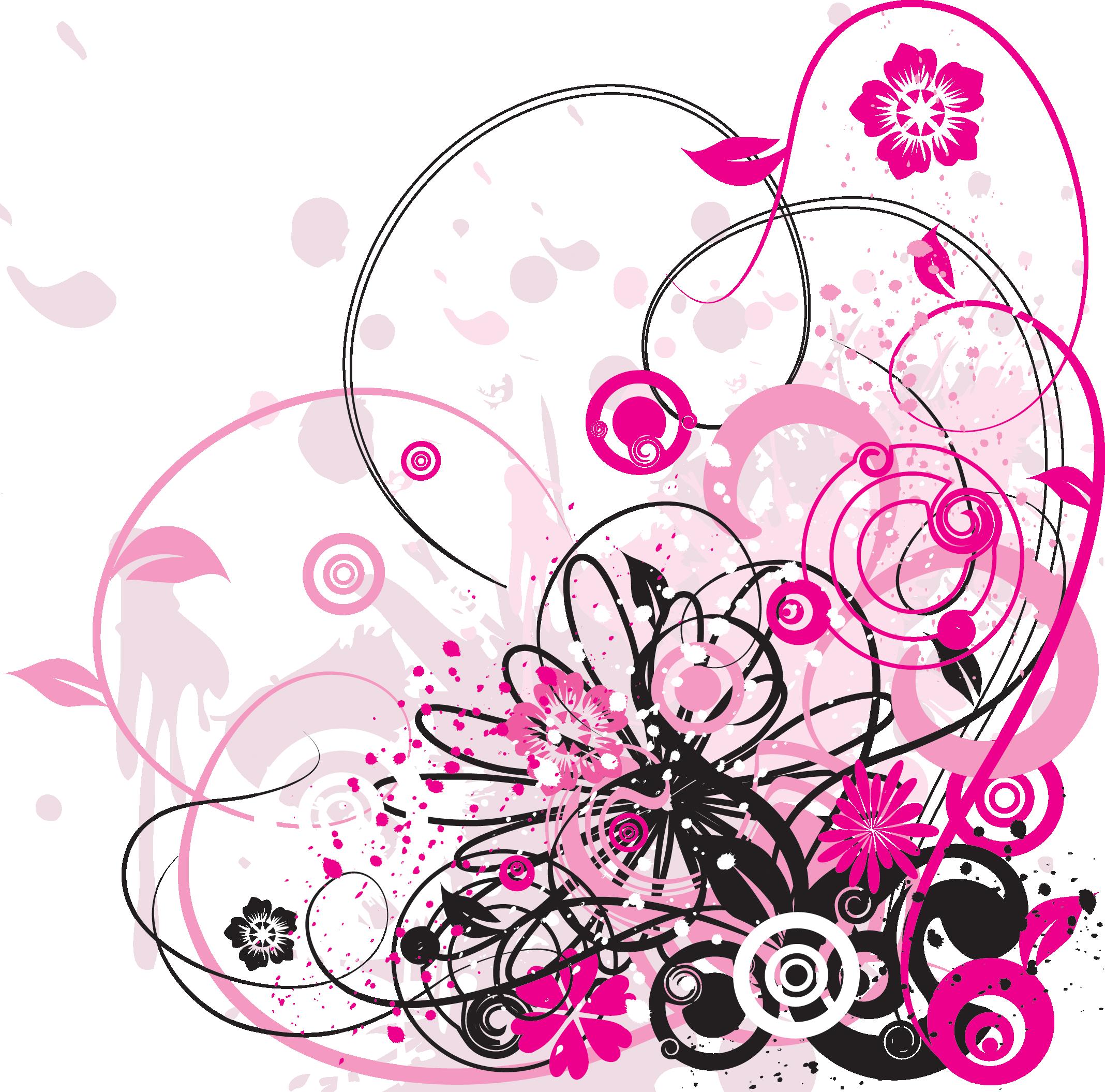 render autres inconnu renders cadre encadrement rose noir nature abstrait feuilles fleurs. Black Bedroom Furniture Sets. Home Design Ideas