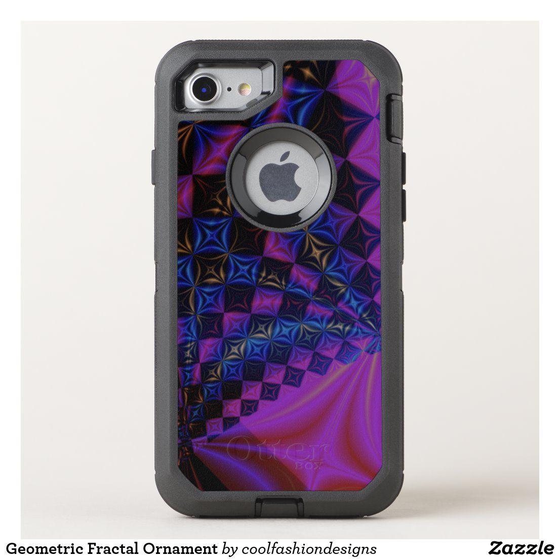 Geometric fractal ornament otterbox iphone case zazzle