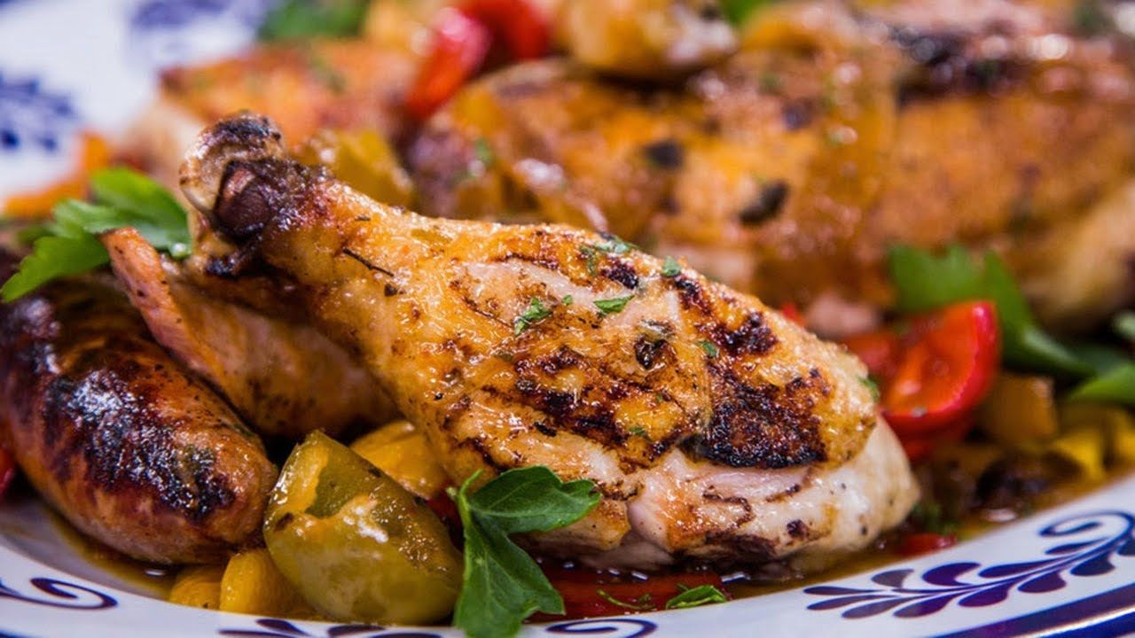 Home & Family - Frank Pellegrino's Grilled Chicken Scarpariello Recipe