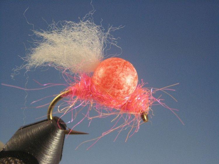 Bead Head UV Nuke Egg Pink Size 10 per 6
