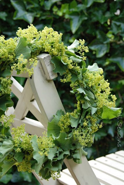 lady's mantle wreath