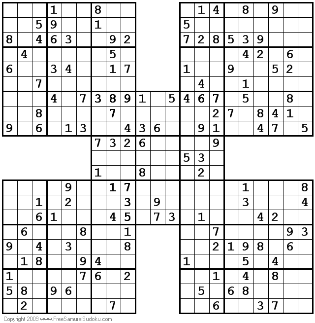 graphic regarding Printable Sudoku Samurai titled 1001 Gentle Samurai Sudoku Puzzles Year out Year