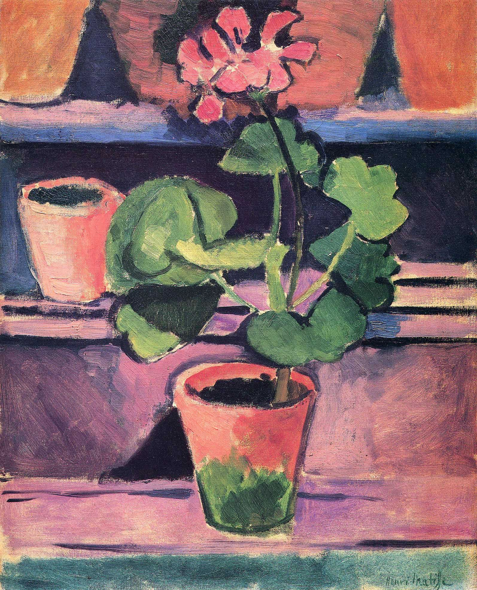 Still life flowers in pot henri matisse paintings i for Henri matisse fenetre ouverte