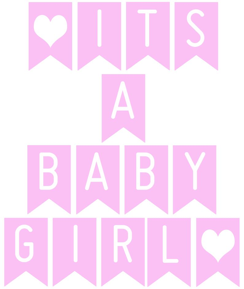 29a5a0311053 FREE Printable banner  It s a baby girl