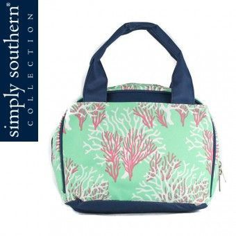 Simply Southern Coral and Sea Foam Lunch Bag