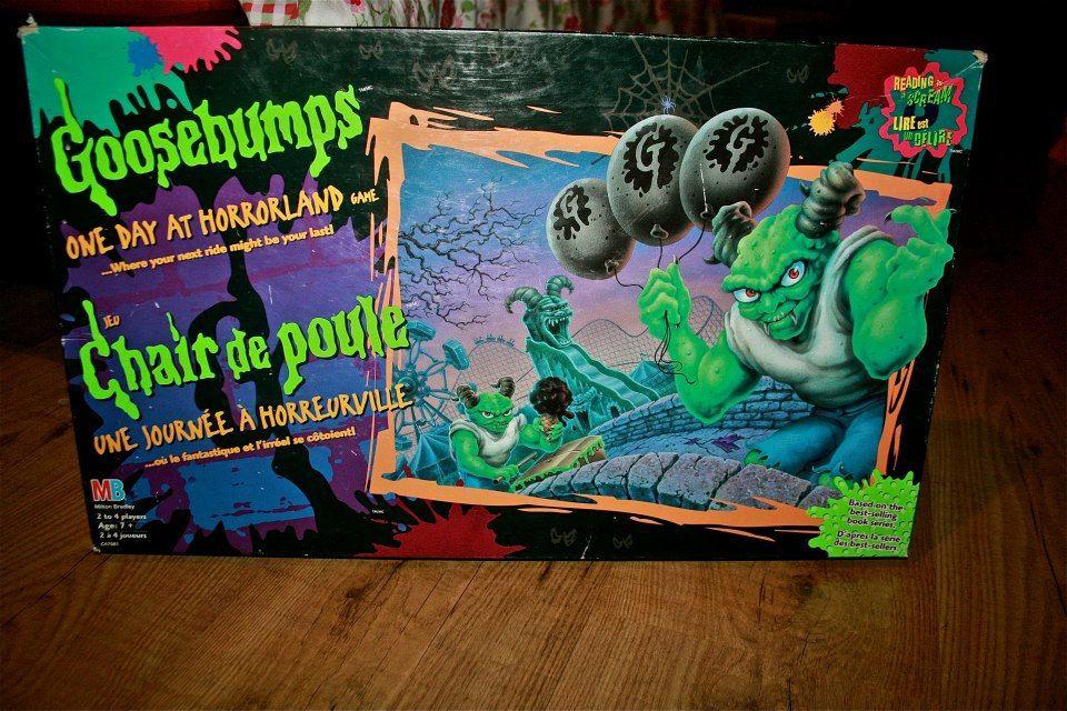 CREEPY VINTAGE One day at Horrorland Goosebumps board game