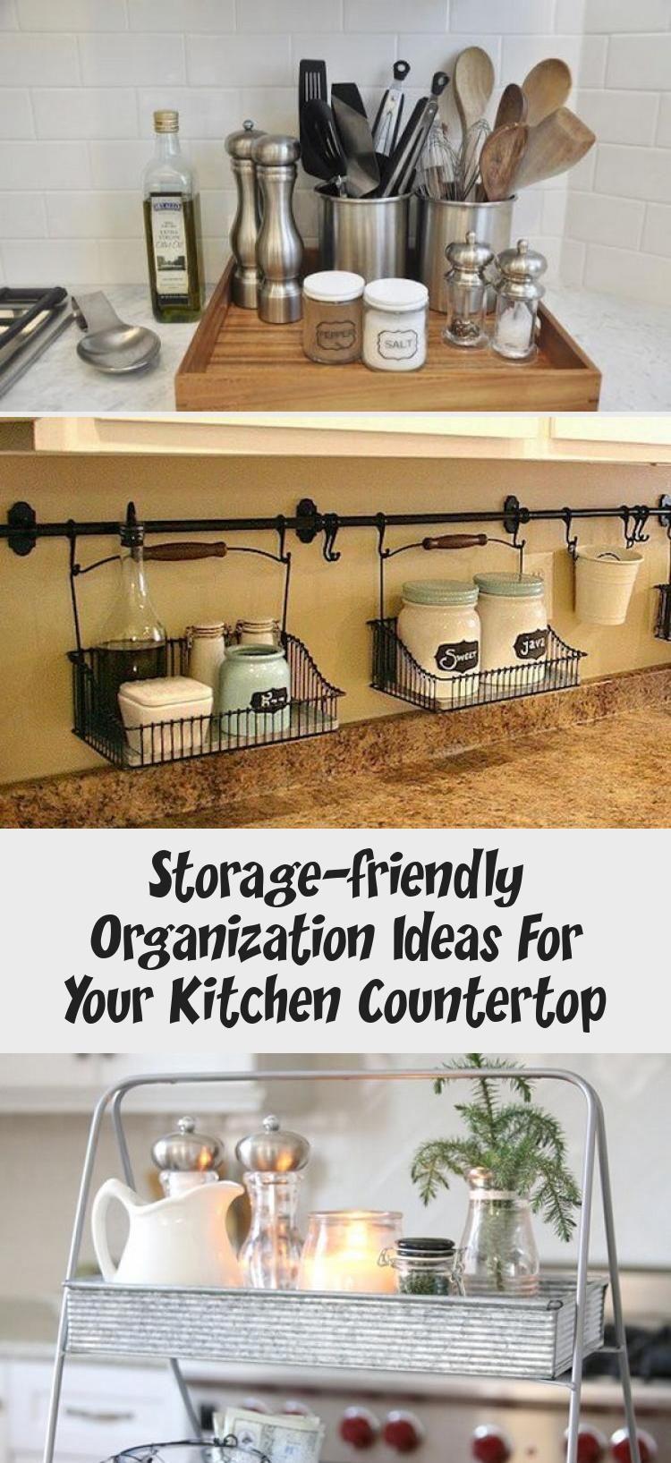 Storage Friendly Organization Ideas For Your Kitchen Countertop Bilgi Tahtasi Kitchen Counter Decor Kitchen Countertops Countertops