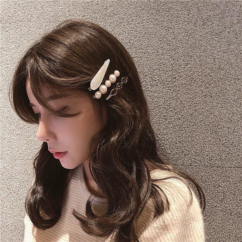 Korean Accessories Korean Pearl Hair Clip Elegant Style Wedding Choice Hair Accessories Hand Made Vintage In 2020 Aesthetic Hair Hairstyles For Thin Hair Hair Setting