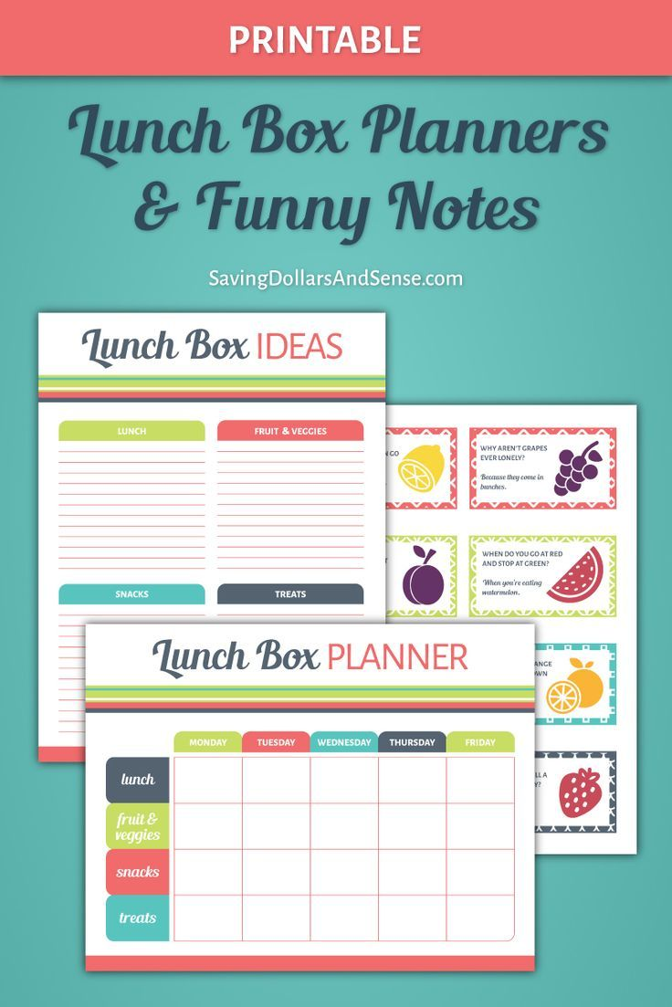 Printable Lunch Box | Lunch box, Lunches and Planners